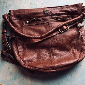 Elliott Lucca brown leather hobo Crossbody